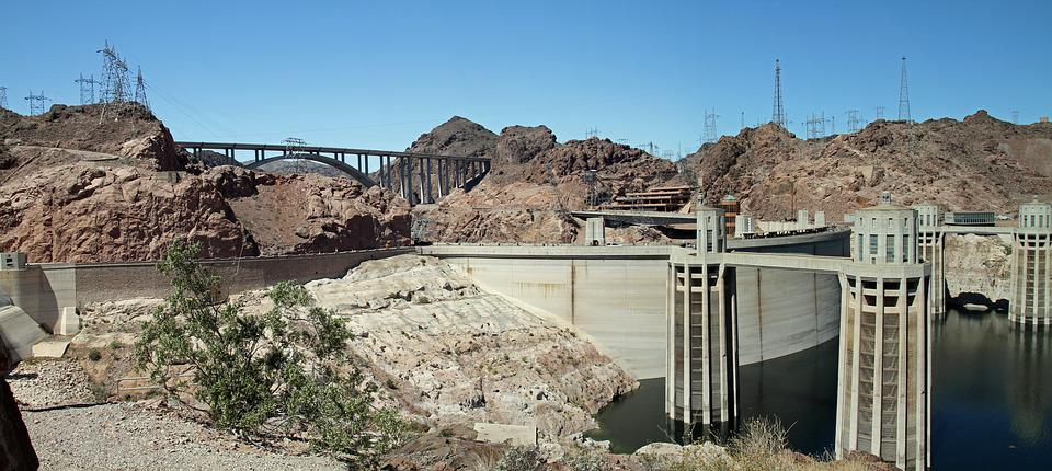 Hoover Dam, Dam, Nevada, Arizona, River, Colorado