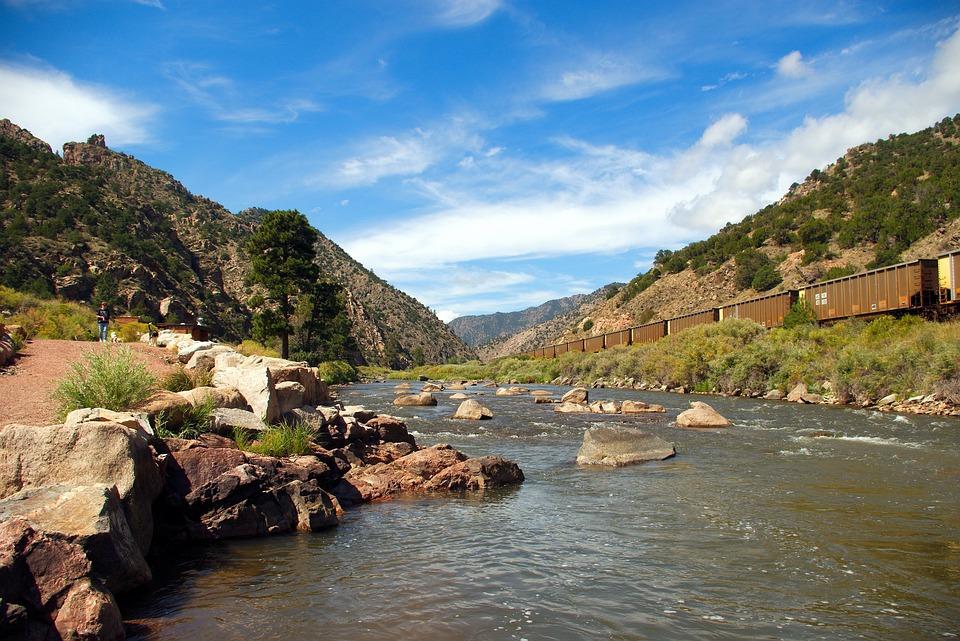 Arkansas River In Colorado, Colorado, River, Mountains
