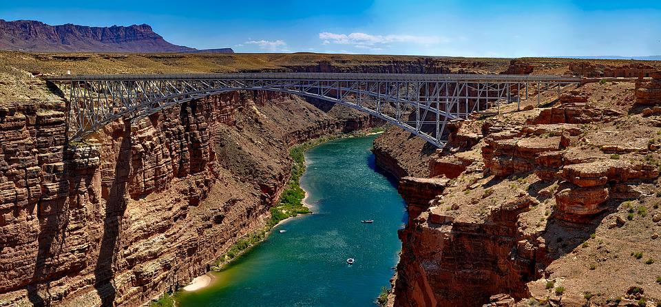 Colorado River, Mountains, Landscape, Hdr, Grand Canyon