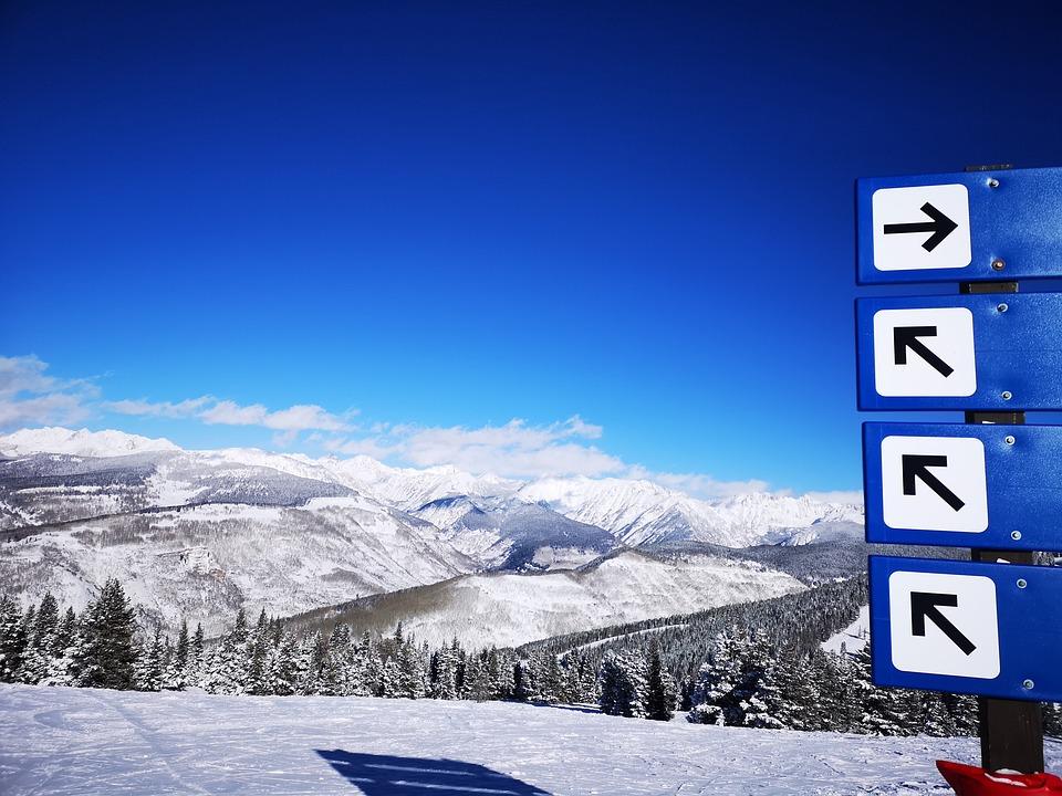 The Rockies, Mountains, Colorado, Winter, Ski Slopes