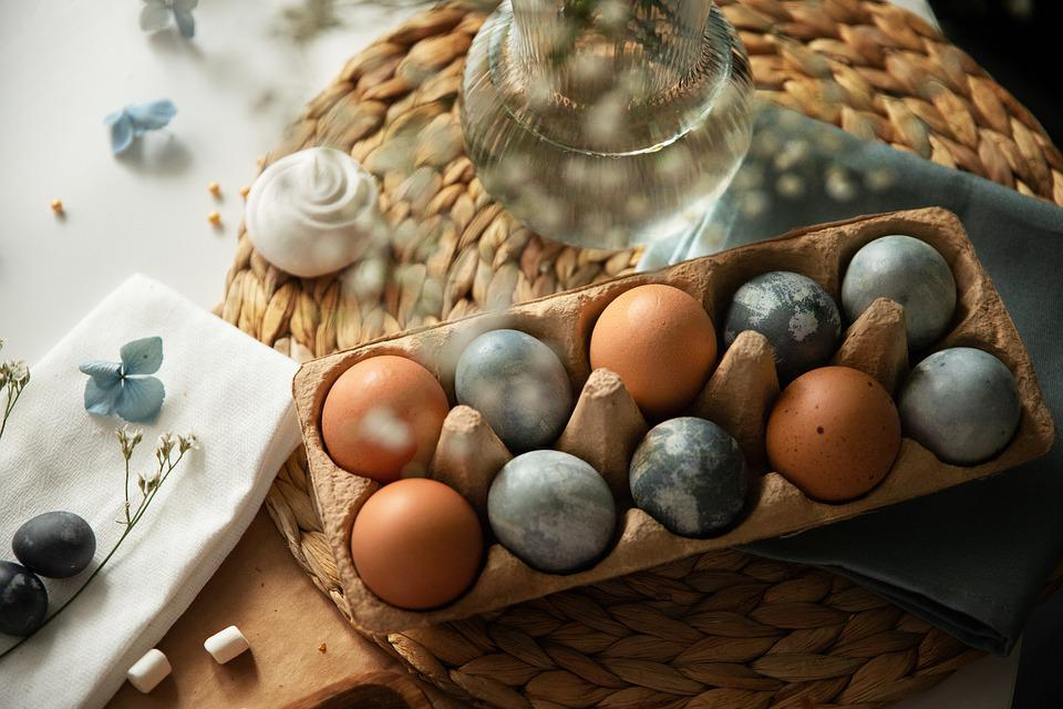 Easter, Eggs, Decoration, Colored Eggs, Chicken Eggs