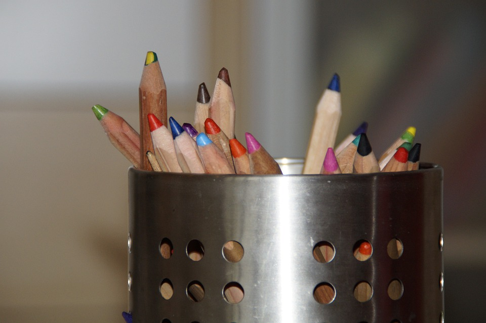 Pens, Colored Pencils, Paint, Quiver, Pen Holder