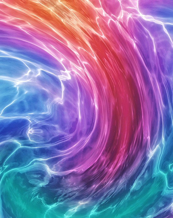 Rainbow Colors, Liquid, Wave, Water, Colored, Colorful