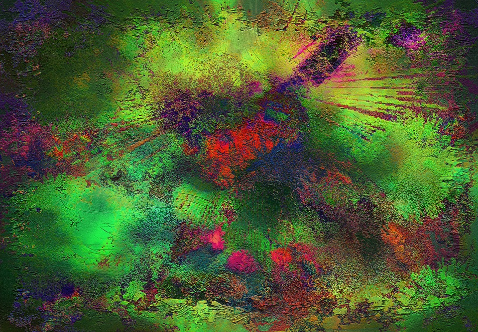 Artwork, Painting, Abstract, Color, Colorful, Green