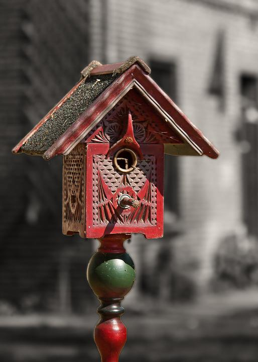 Aviary, Antique, Rustic, Weathered, Colorful, Wood