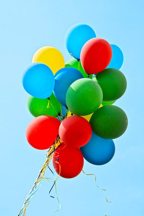 Balloons, Party, Colorful, Decoration