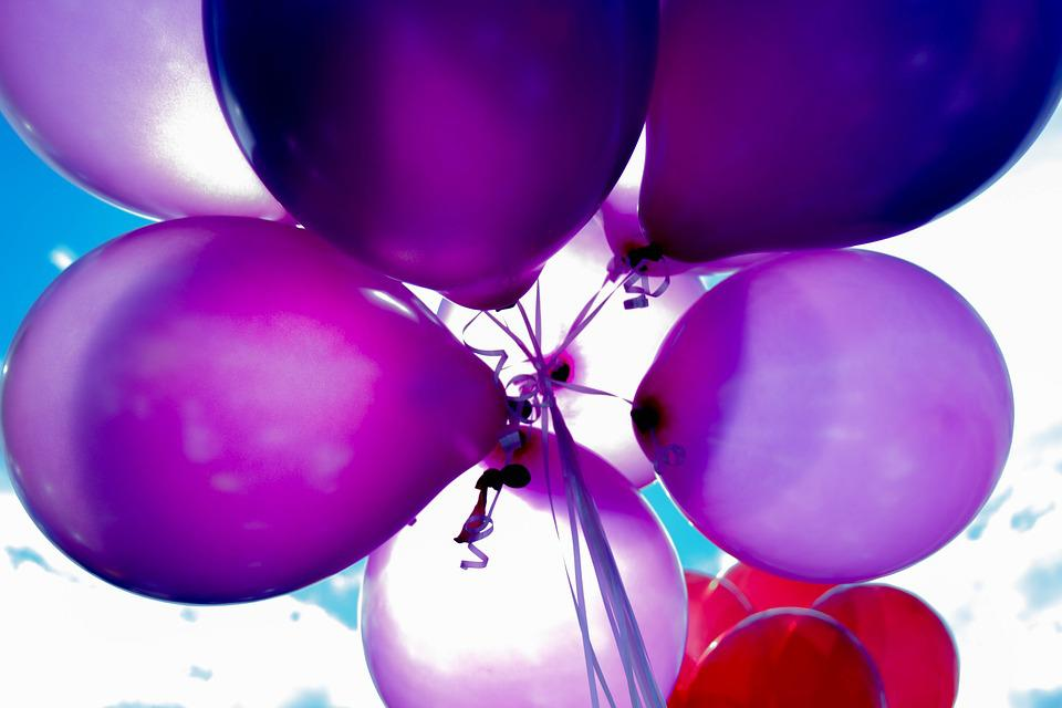 Balloons, Birthday, Celebration, Colorful, Decoration