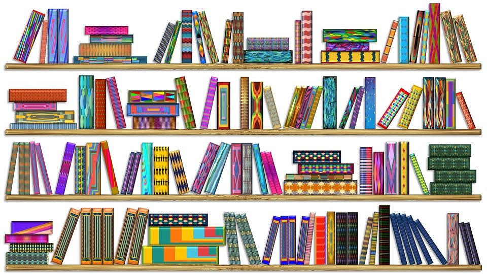Colorful Books Bookshelf Bookcase