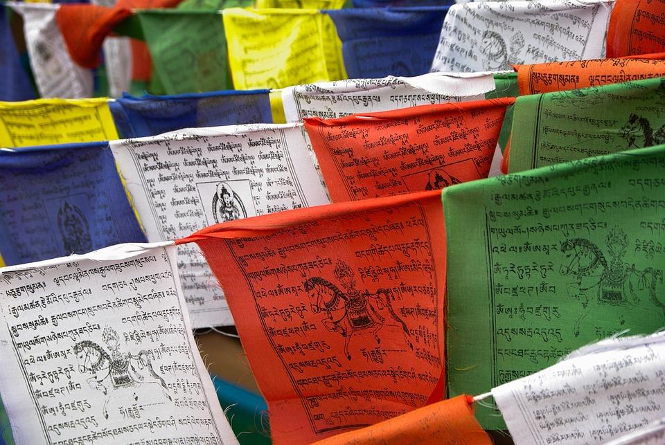 Nepal, Prayer Flags, Religion, Buddhism, Colorful