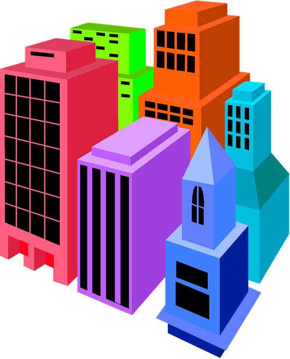 Buildings, Clip Art, Colorful, Isolated, Clip, Art