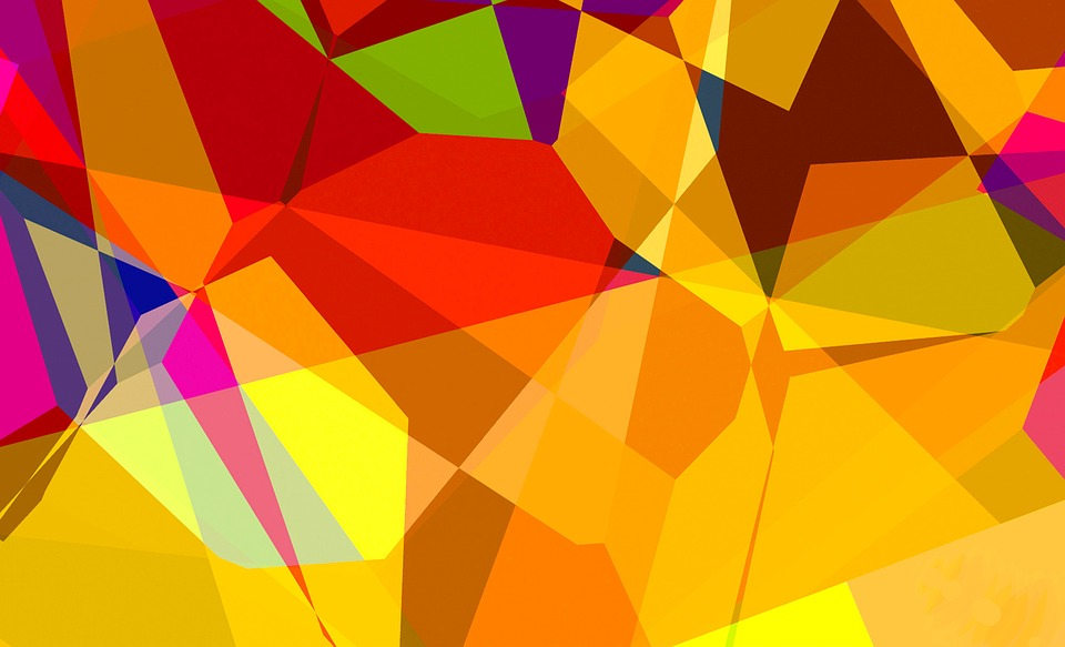 Color, Share, Many, Colorful, Triangle, Abstract
