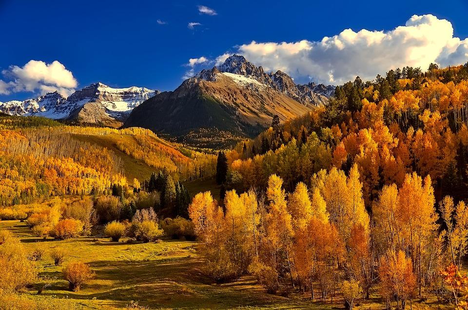 Free Photo Colorful Colorado Mountains Autumn Fall Foliage