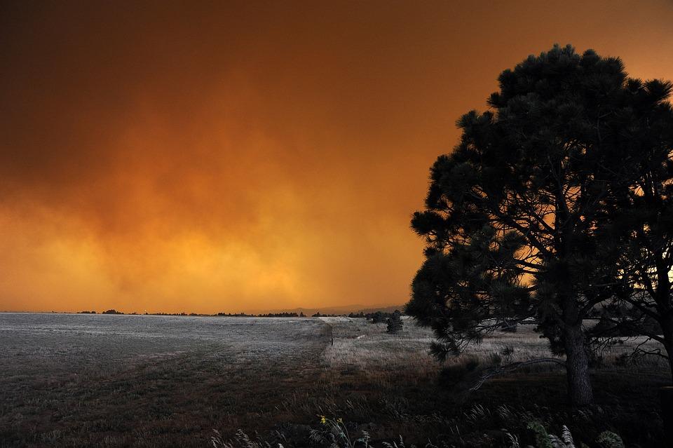 Fire, Landscape, Colorado, Flames, Smoke, Colorful