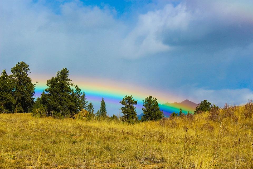 Rainbow, Colorado, Colorful, Vibrant, Autumn, Usa