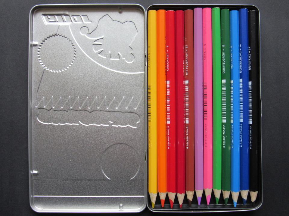 Free photo Colorful Colored Pencils Sheet Metal Box Color - Max Pixel