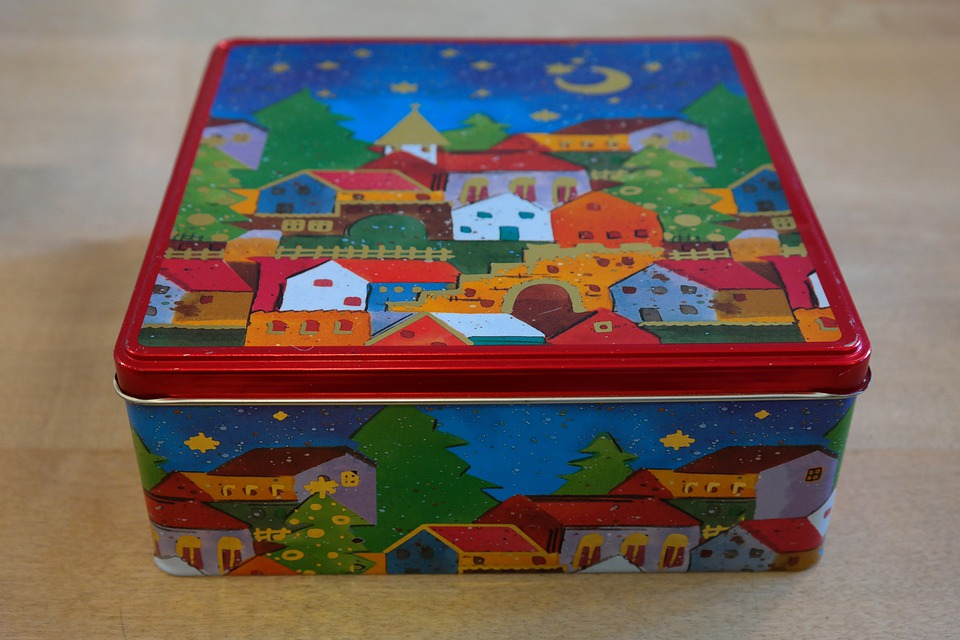 Box, Cookie Jar, Christmas Box, Colorful, Color