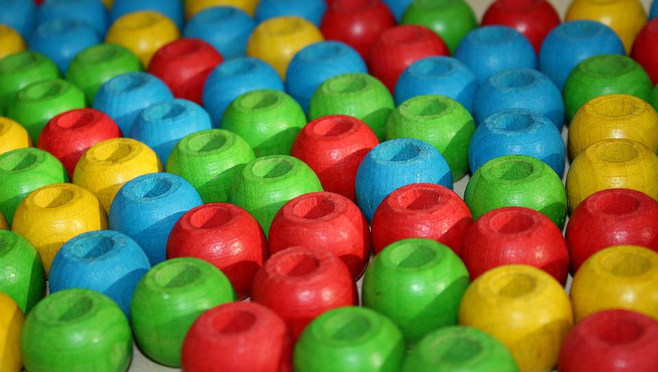 Balls, Wooden, Colorful, Count, Creativity