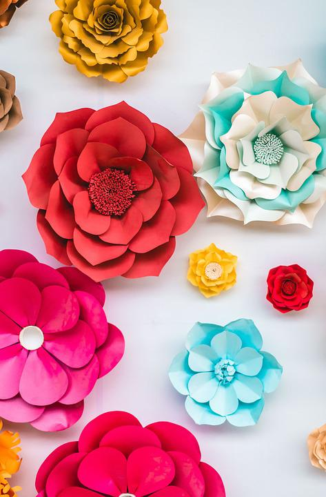 Flowers, Paper, Colorful, Decoration, Party, Creativity