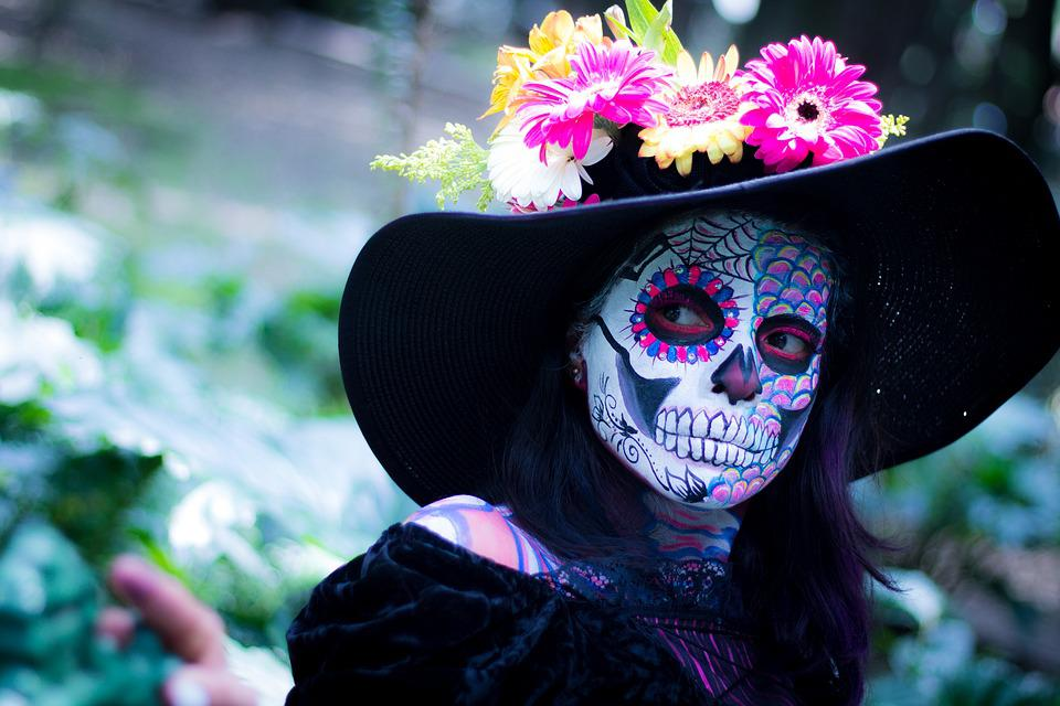 free photo colorful day of the dead tradition make up