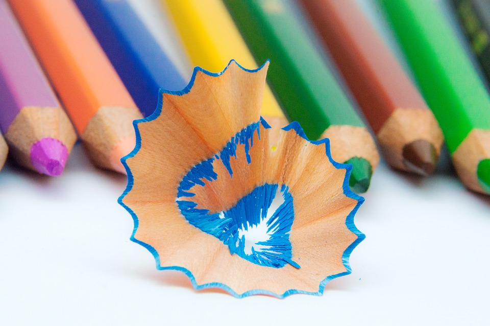 Colored Pencils, Colorful, Different Colored Crayons