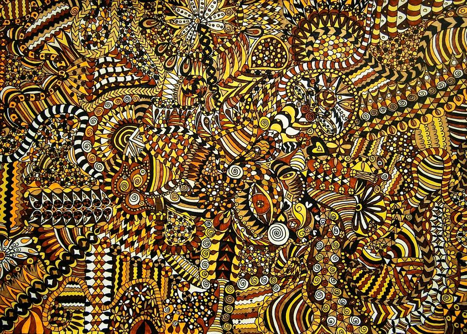 Drawn, Pattern, Colorful