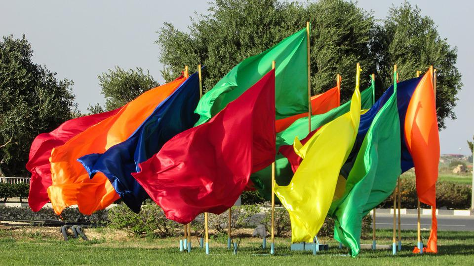Flags, Colours, Colorful, Festivity, Carnival, Cyprus