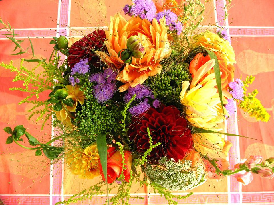 Colorful Flower Bouquet, Colorful Flowers
