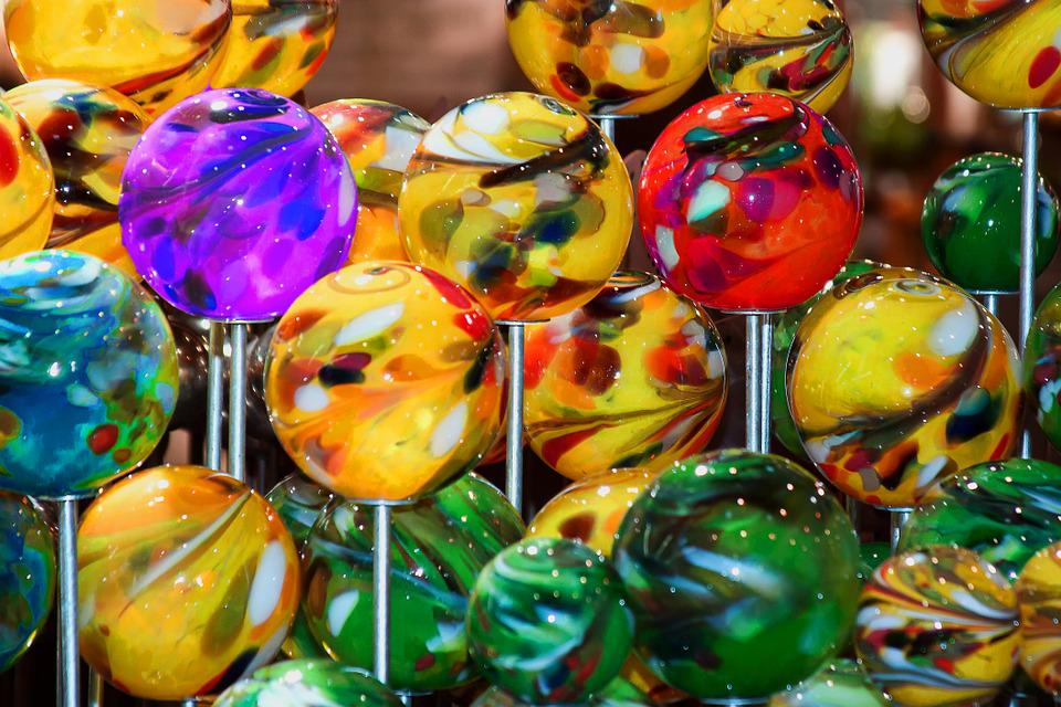 Balls, Glass Ball, Colorful, Color, Glass, Deco