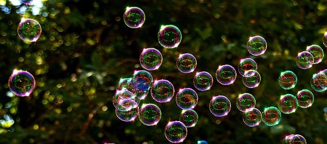 Soap Bubbles, Colorful, Flying, Make Soap Bubbles
