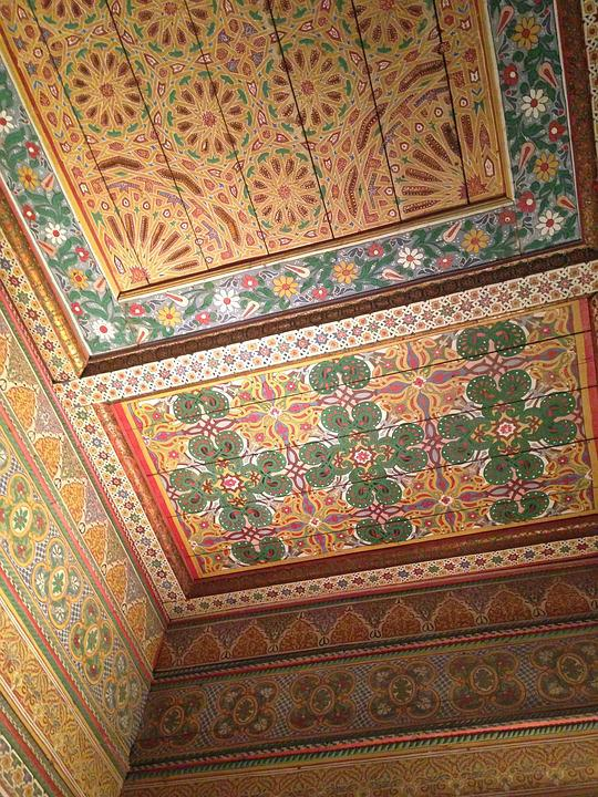 Free photo Colorful Morocco Ceiling Mosaic Tiles Patterns - Max Pixel