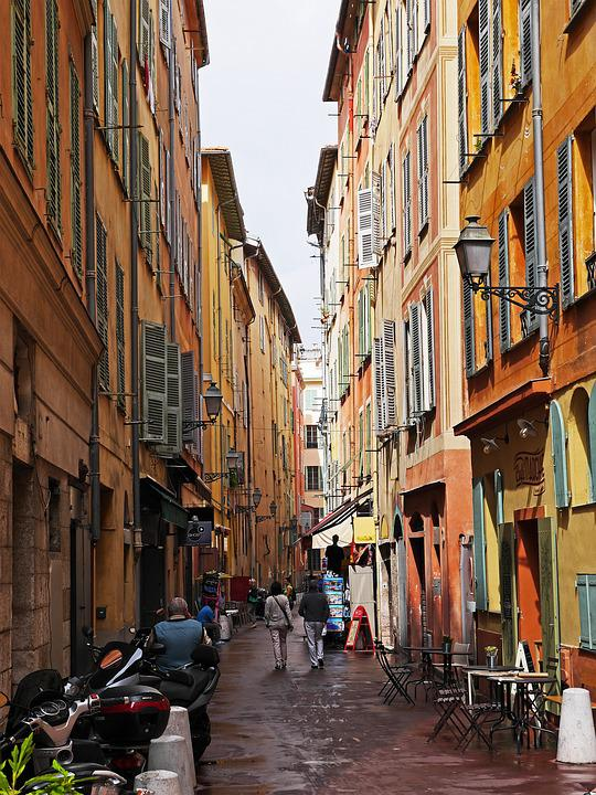 Nice, Old Town, Alley, Colorful, Eng, Lively, Animated