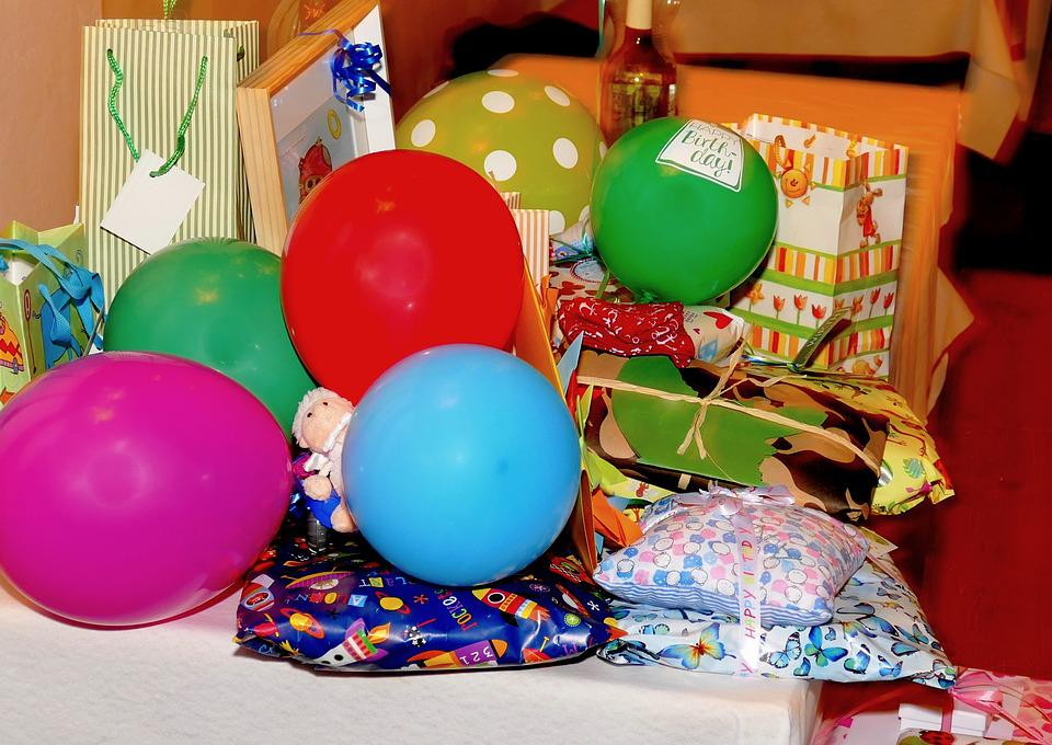 Gifts, Birthday, Packed, Colorful, Packaging