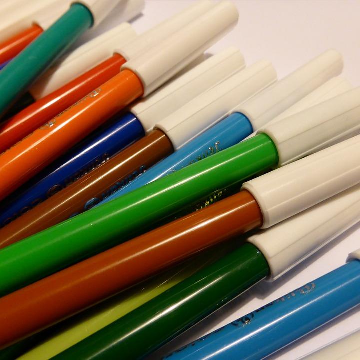Color, Felt Tip Pens, Colorful, Stationery, Pens, Paint