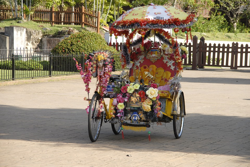 Pedicab, Colorful, Asia