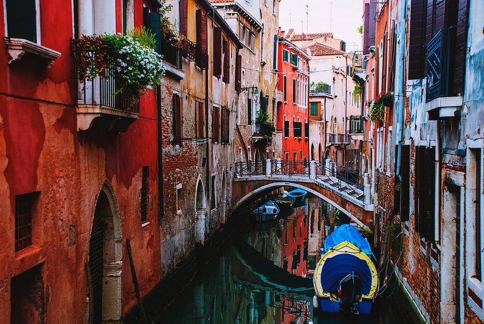 Colorful, Buildings, Window, Flower, Plants, Boat