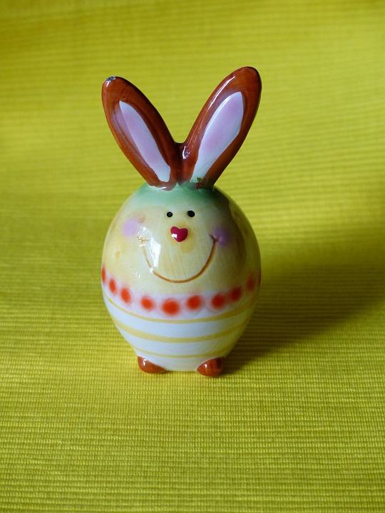 Hare, Easter Bunny, Fig, Porcelain, Sound, Colorful