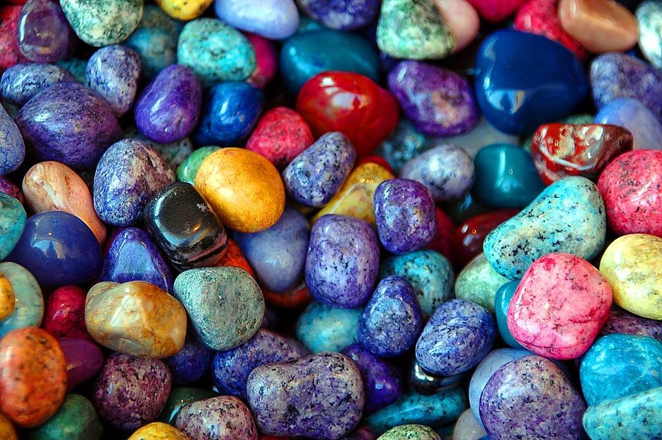 Colorful Rocks, Stones, Background, Backdrop, Shiny