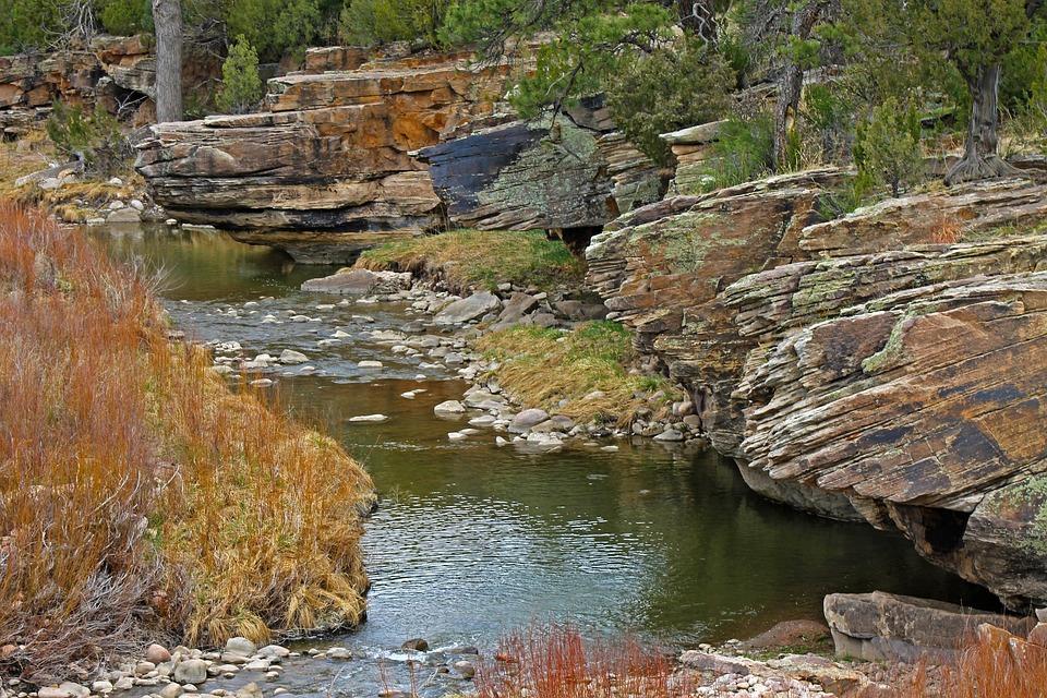 Creek, Water, Colorful Rocks, Pretty Rocks, Gorge