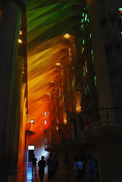 Color, Colorful, Sagrada Familia, Interior