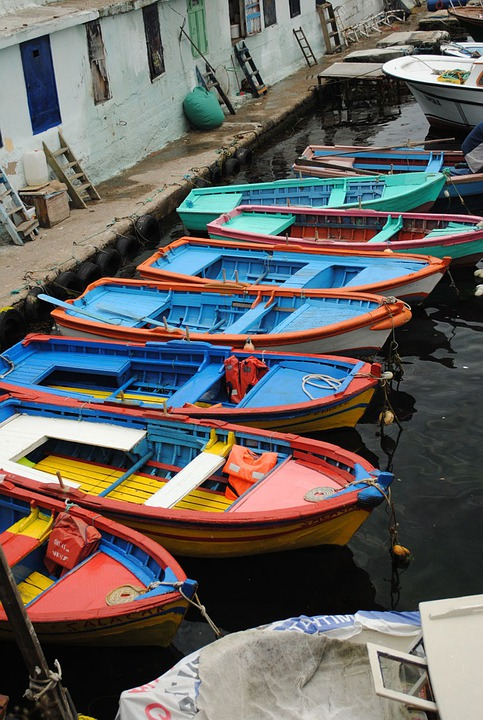 Boat, Colorful, Color, Sea, Seaside, Old, Fisher, Red