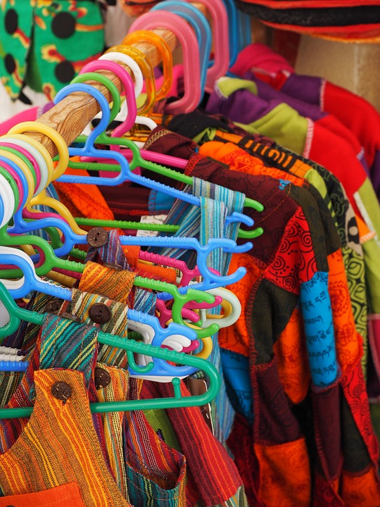 Clothing, Colorful, Selection, Coat Hanger, Purchasing