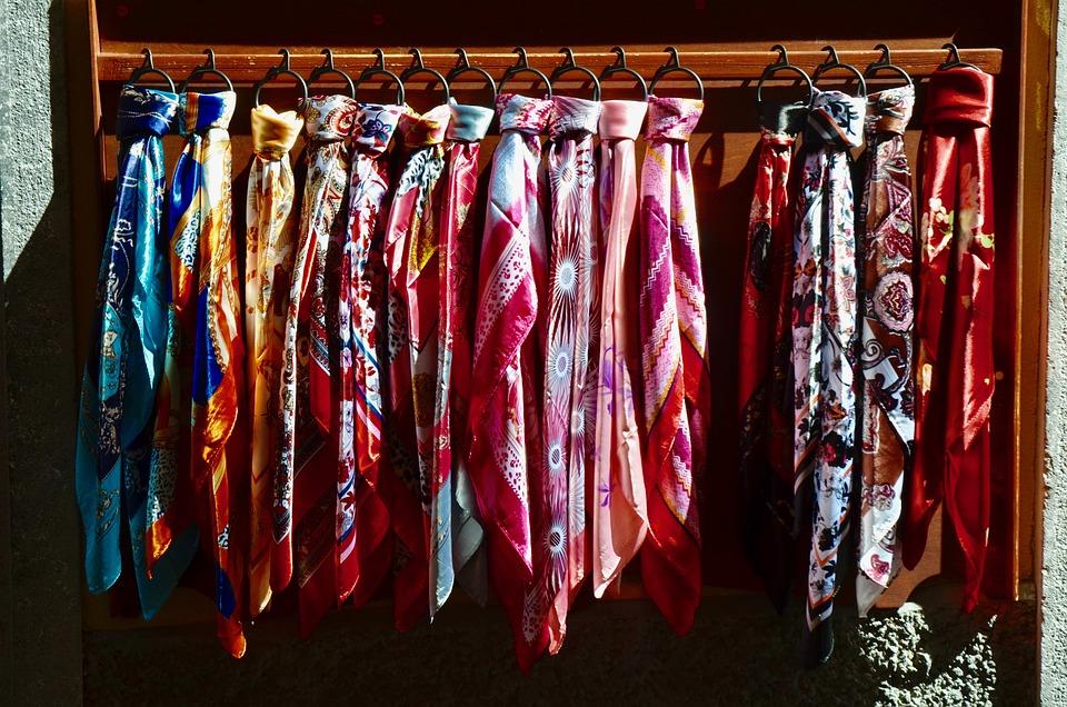 Silk, Scarf, Silk Scarf, Color, Colorful