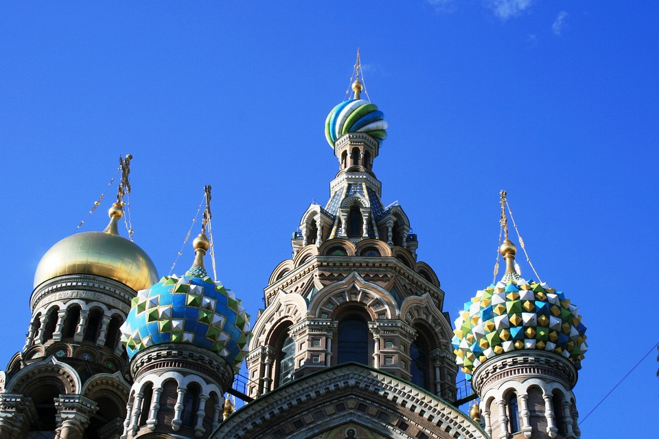 Church, Ornate, Colorful, Cupolas, Domes, Towers, Sky