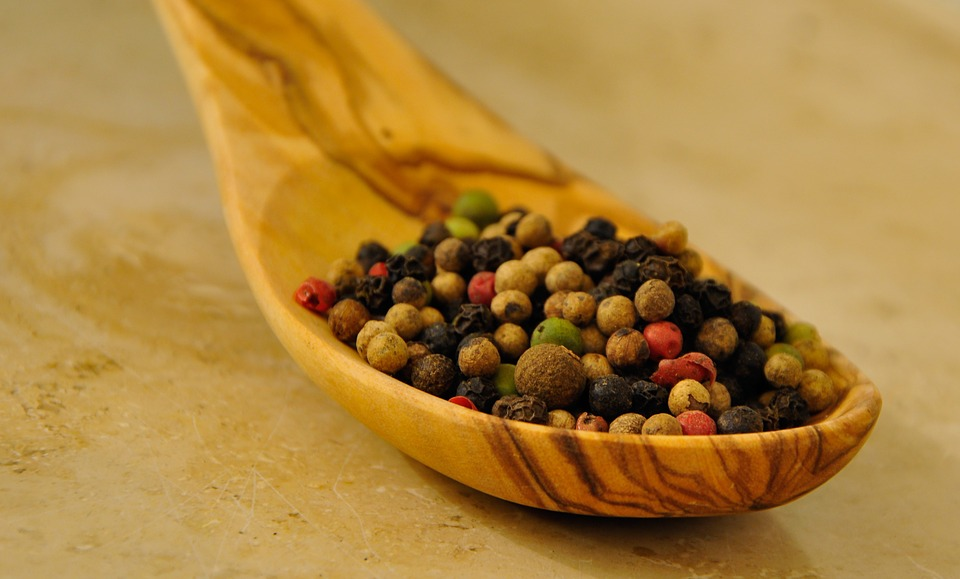 Pepper, Peppercorns, Spice, Pfefferkorn, Colorful, Red