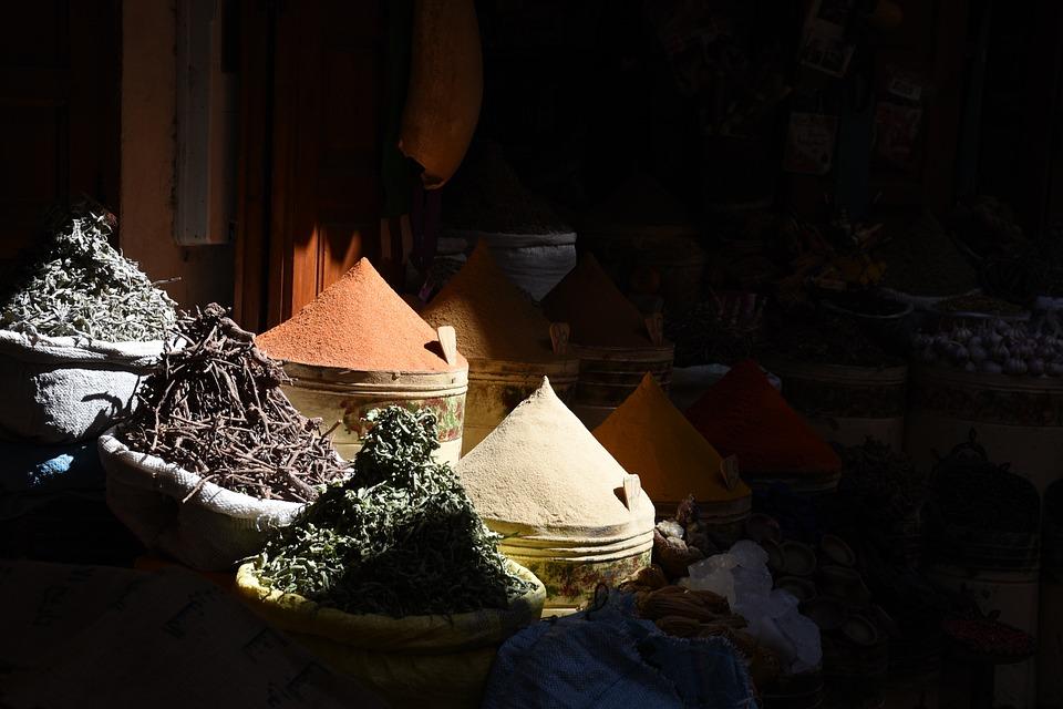 Spice Cone, Spices, Market, Open Spices, Colorful