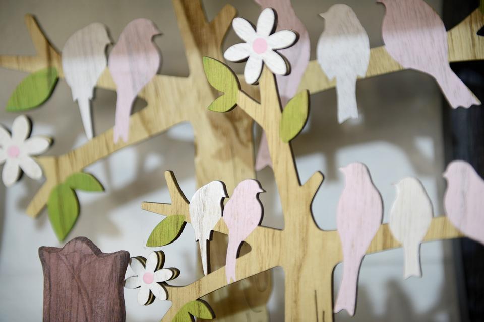 Easter, Birds, Decoration, Spring, Floral, Colorful