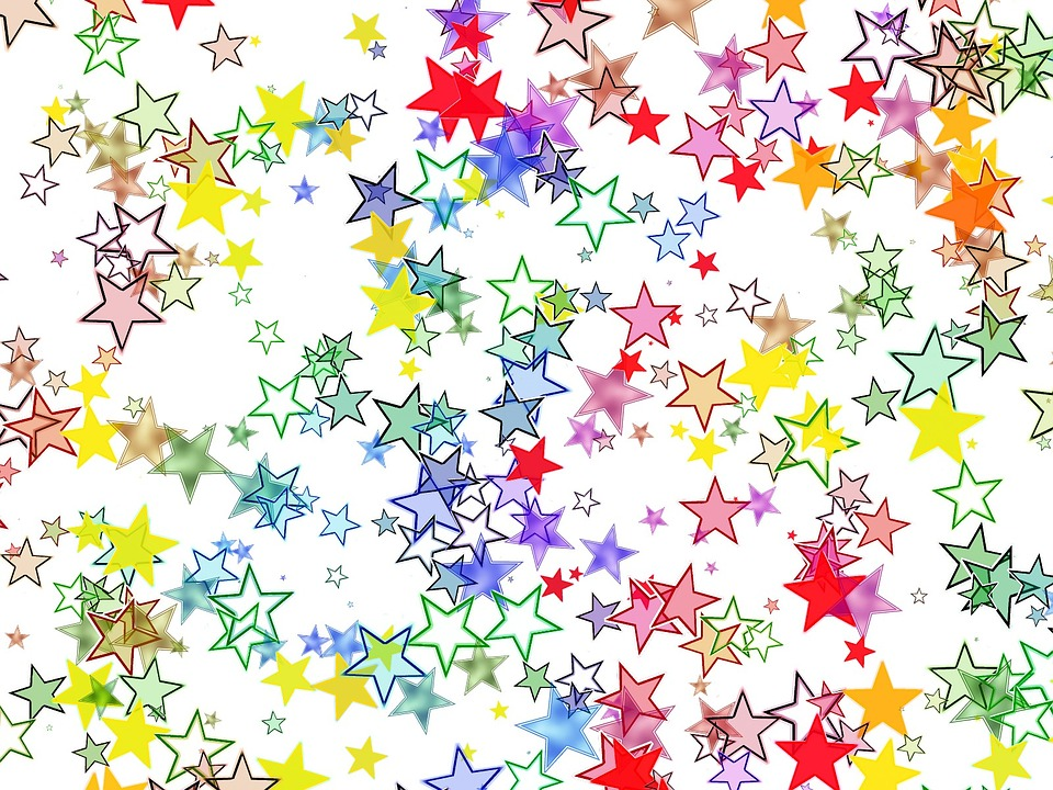 Star, Colorful, Color, Background, Pattern, Many
