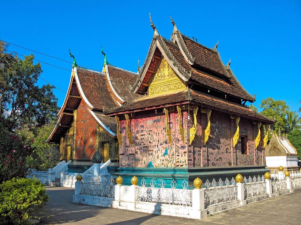 Luang Prabang, Temple, Laos, Colorful, Buddhist, Asia