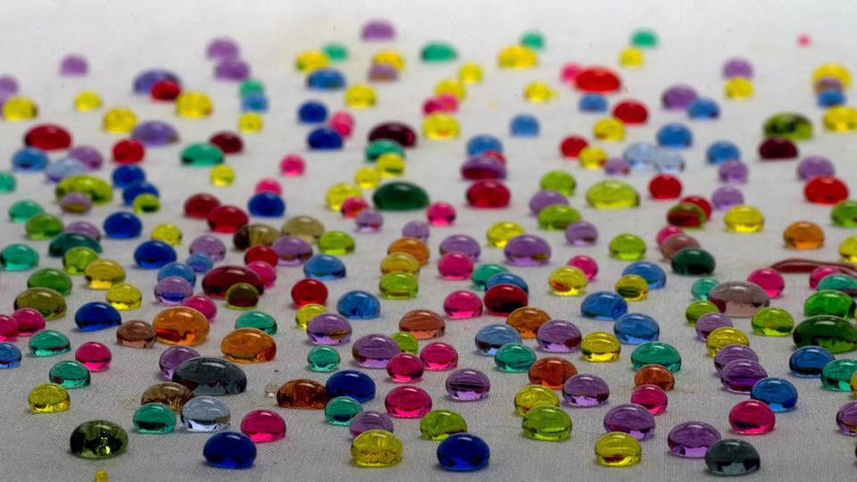 Water Droplets, Colorful, Water Repellent