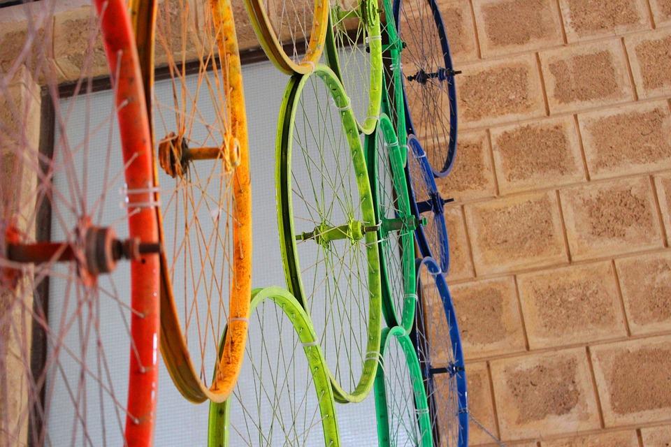Wheels, Bicycle, Colors, Colorful, Vintage